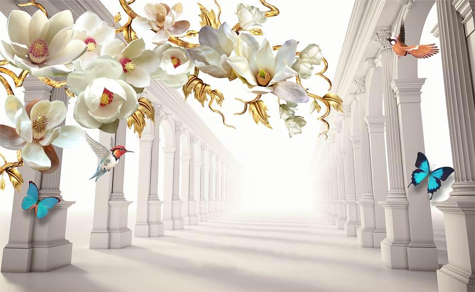 Фотообои 3д цветы 4045032703