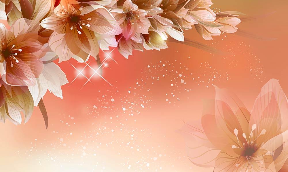 Фотообои 3д цветы 43690038226