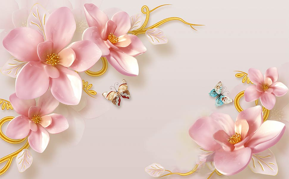 Фотообои 3д цветы 548937964