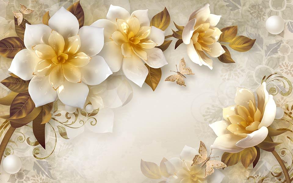Фотошпалери 3д квіти 8454378026