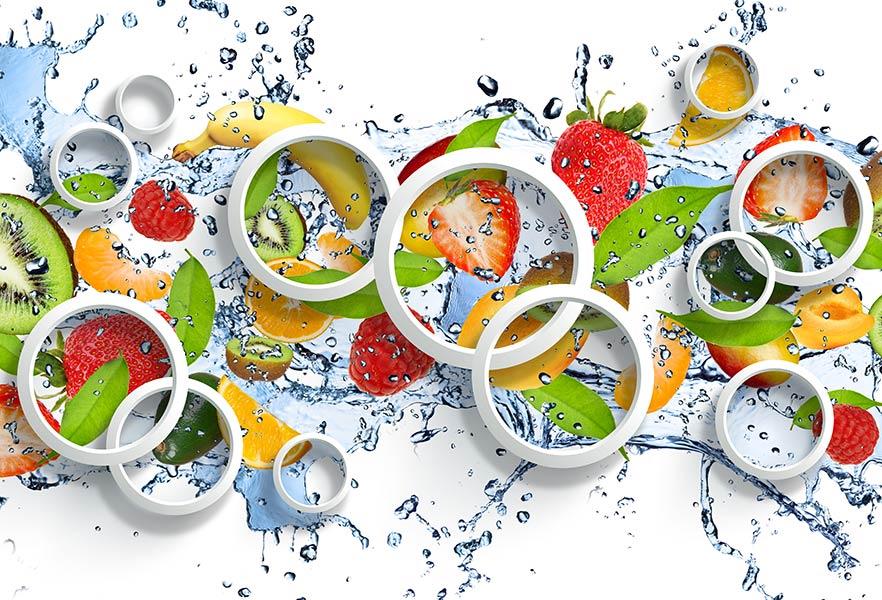 фотошпалери 3д фрукти 36098637671