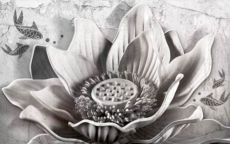Фотообои 3д цветы 456247955