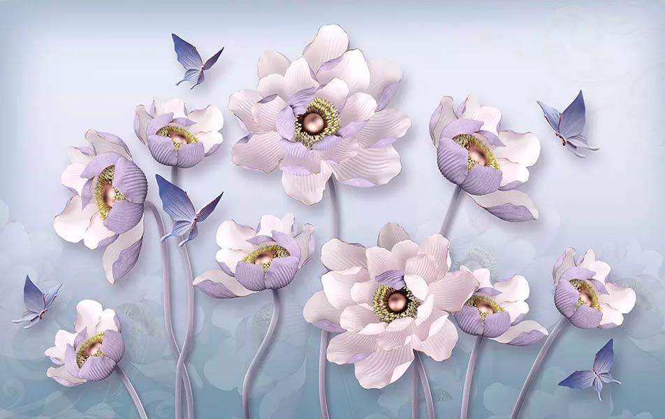 Фотообои 3д цветы 76525353