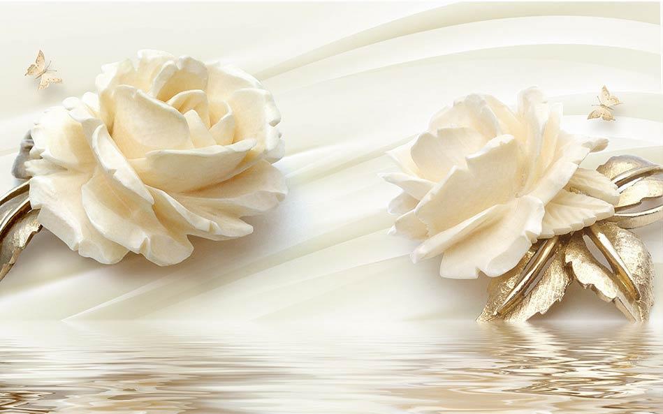 Фотообои 3д цветы 025542573