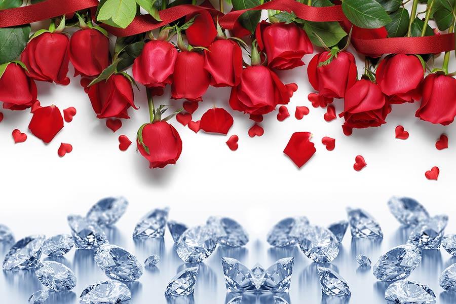 фотообои розы и бриллианты 4370217954