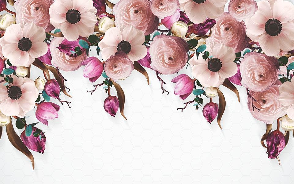 Фотообои 3д цветы 5358436544
