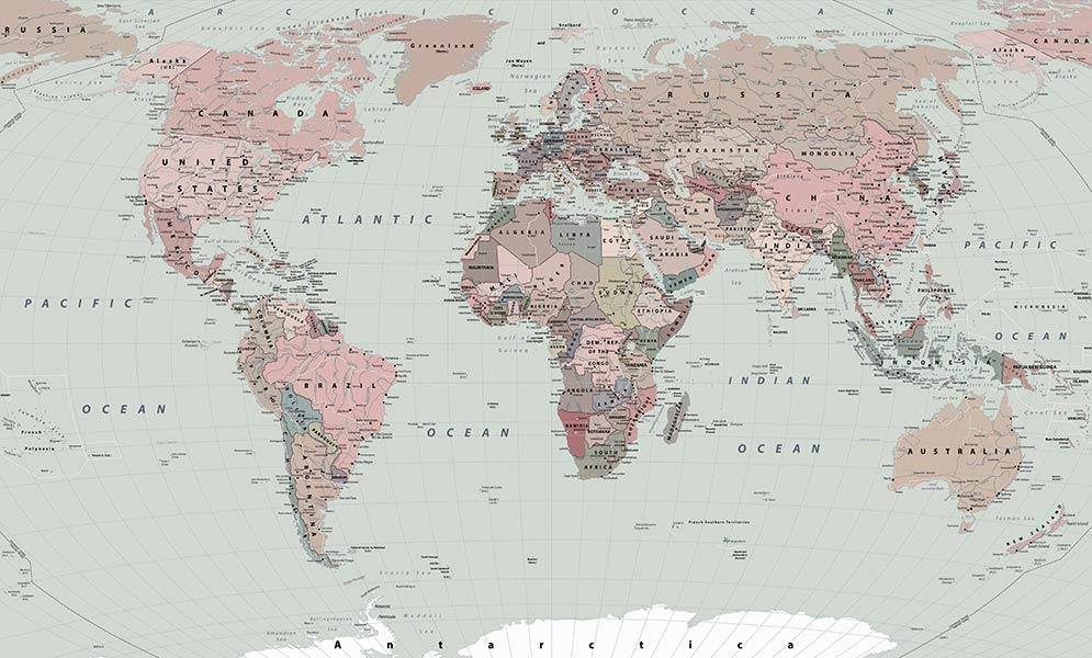 фотообои Карта мира 6576454169