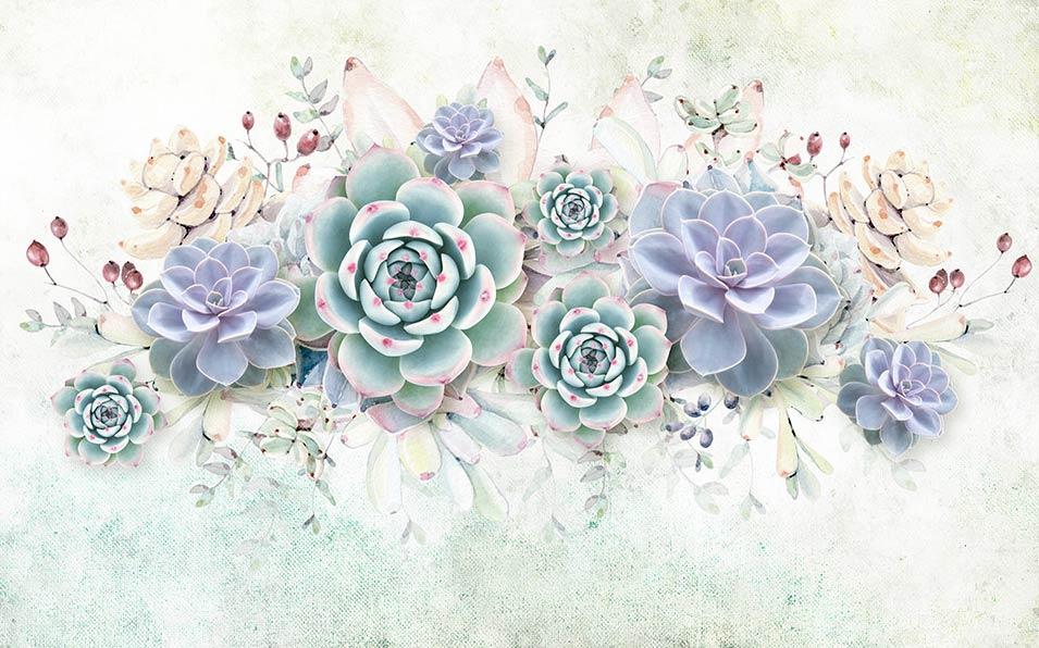 Фотошпалери 3д квіти 71684398
