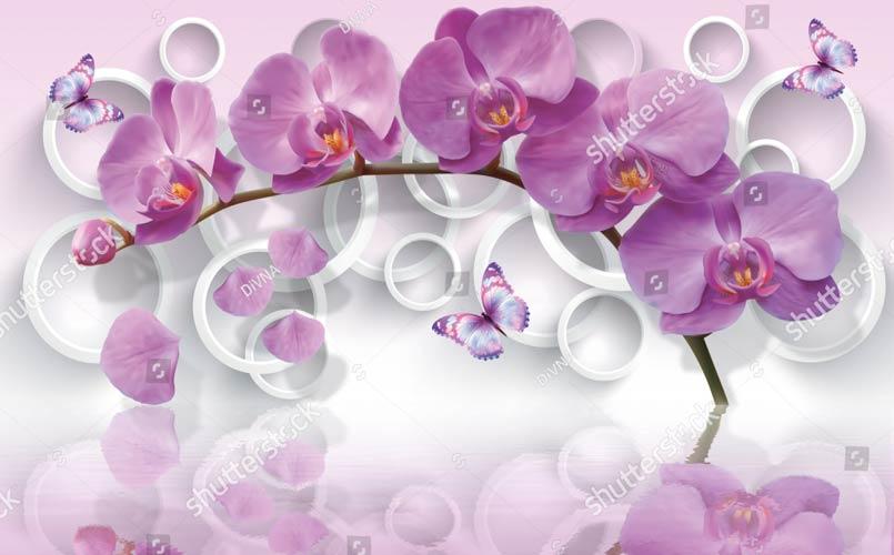 Фотообои 3д орхидеи 1172771080