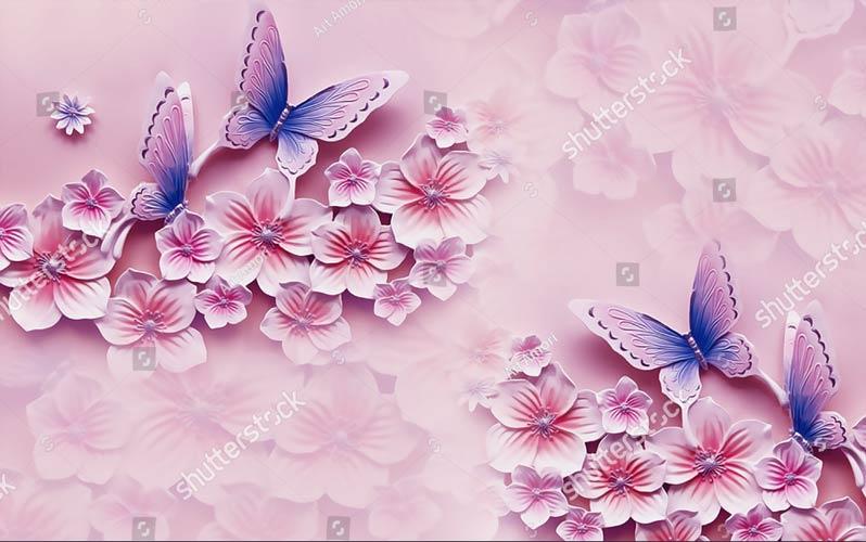 Фотообои 3д цветы 1241169997