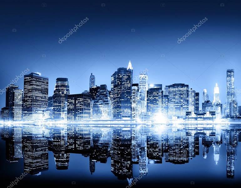 Фотообои ночной город 84044462