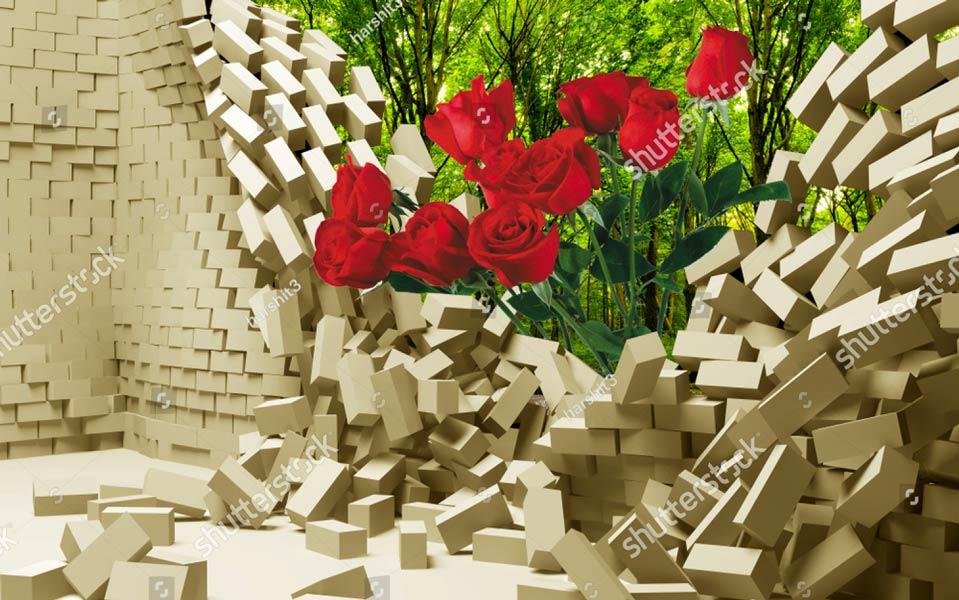 Фотошпалери 3д квіти 1216369669