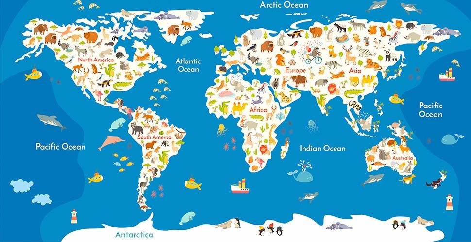 фотообои Детская карта 373642894