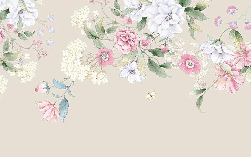 фотообои акварель цветы 136658593