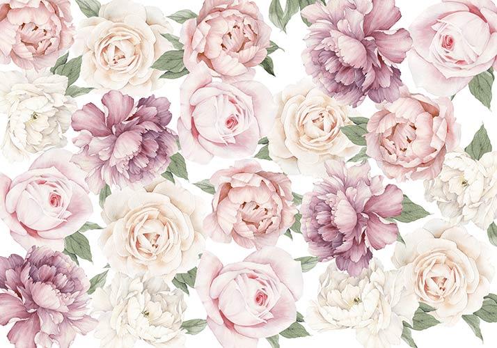 фотошпалери Квіти акварель 432472942