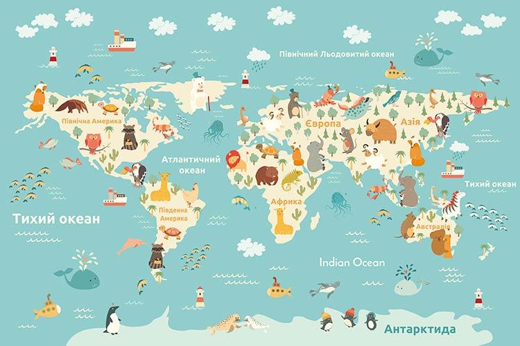 фотошпалери Карта дитяча ua 599815088