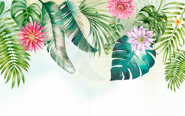 фотообои растения акварель 4638934290