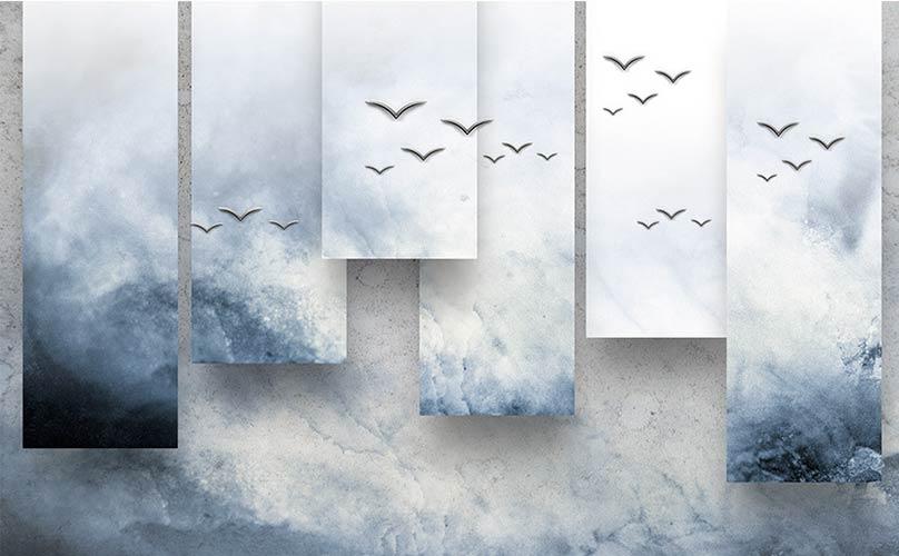 3д туман полоски фотошпалери на стіну