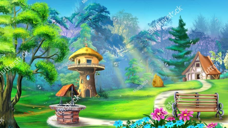 шпалери на стіну дитяча казка у лісі