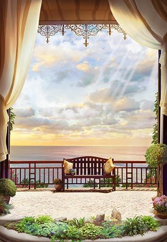 фотообои фреска терраса балкон