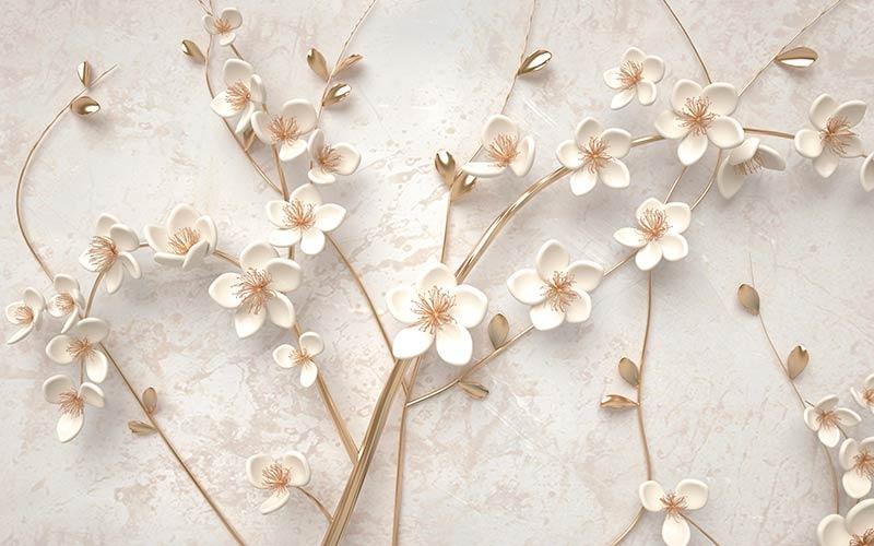 фотошпалери на стіну золоті квіти