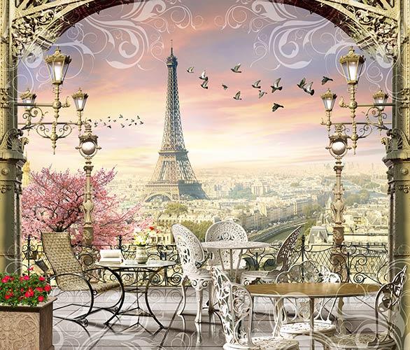 фреска фотошпалери тераса в Парижі
