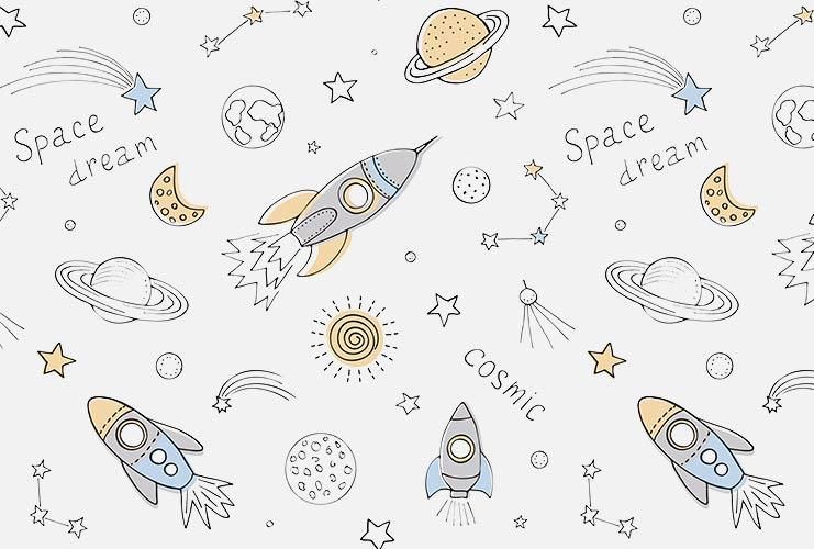 фотошпалери на стіну дитячі космос
