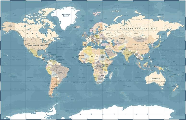 фотошпалери карта світу