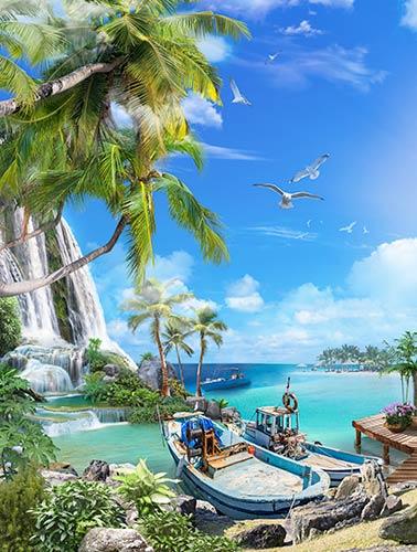 фотошпалери море і пляж