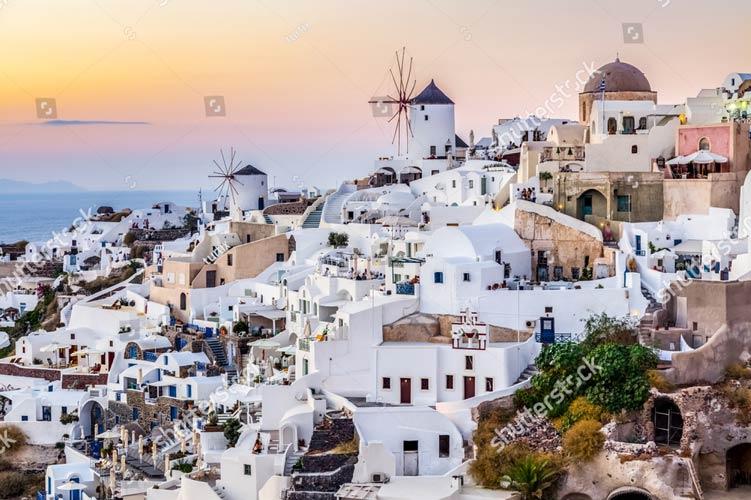 фотошпалери на стіну Санторіні Греція