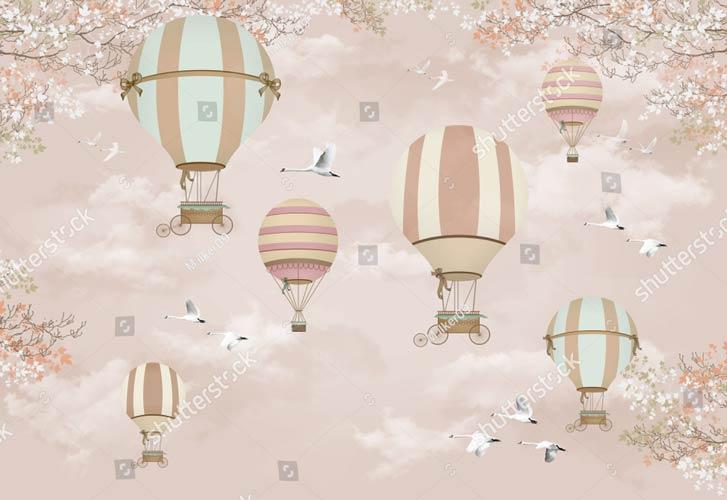 фотообои детские воздушные шары