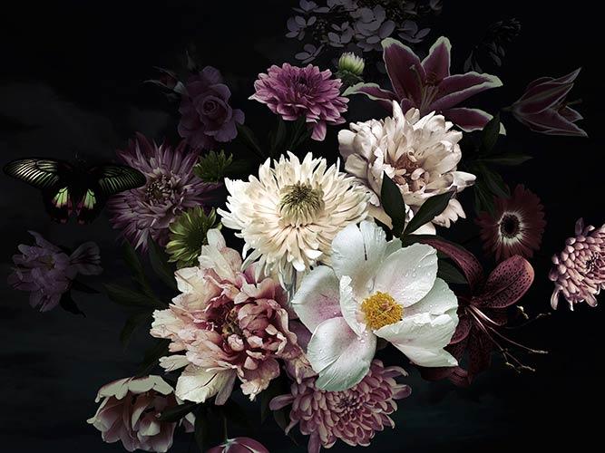 фотообои 3д цветы 1372161164