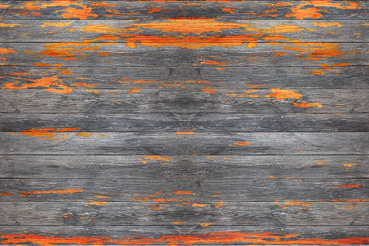 фотообои доски оранжевые 74537894523