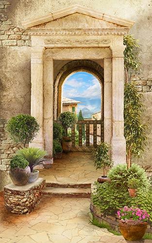 фотошпалери фреска арка 124904389