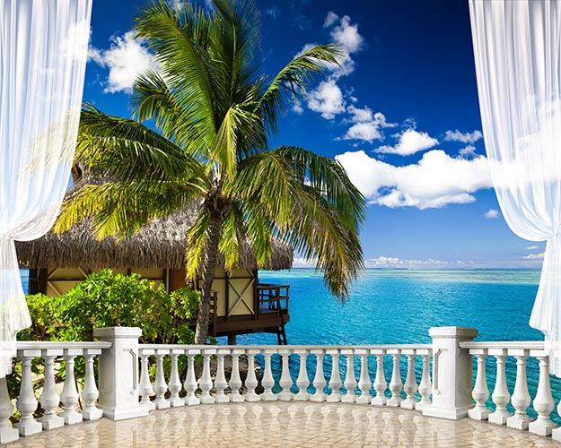 фотошпалери вид з балкону Бунголо 4754600343