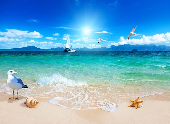 фотошпалери морський пляж 76491289