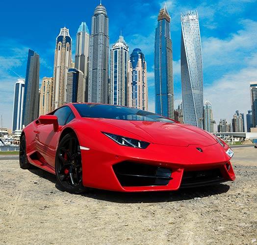 фотошпалери червоний автомобіль на стіні 184075824